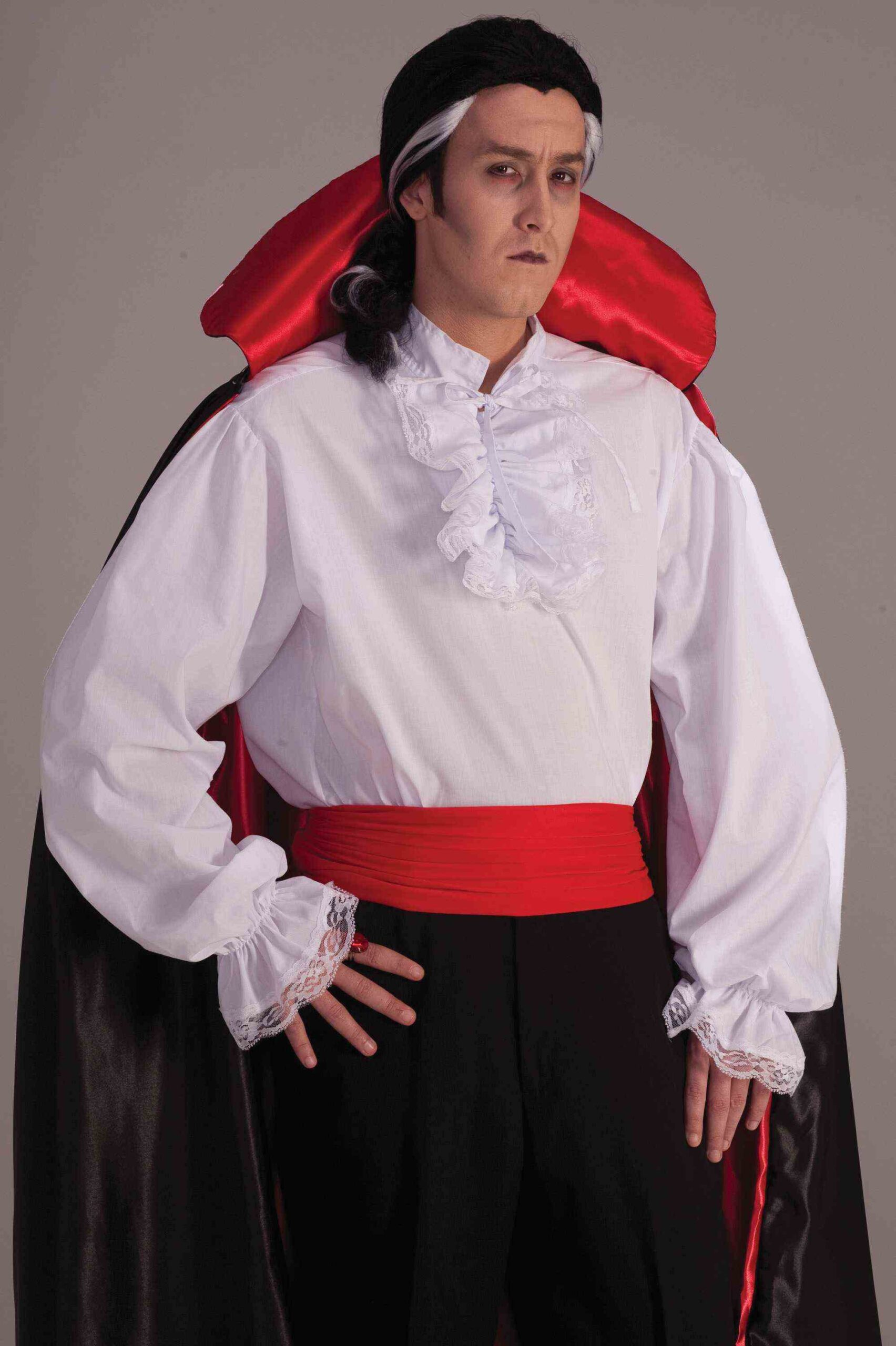 Adult male in dracula costume
