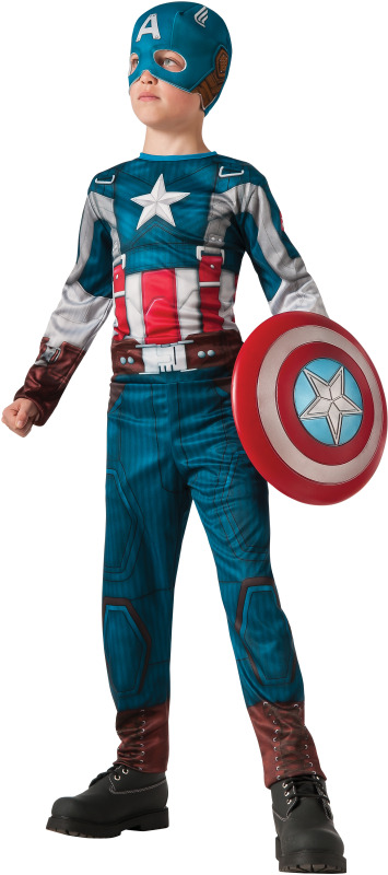 little boy in captain america costume