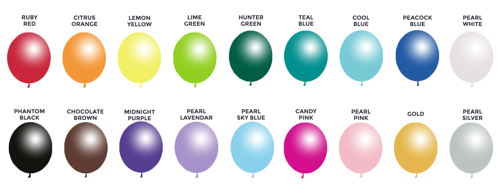 Balloon color swatches