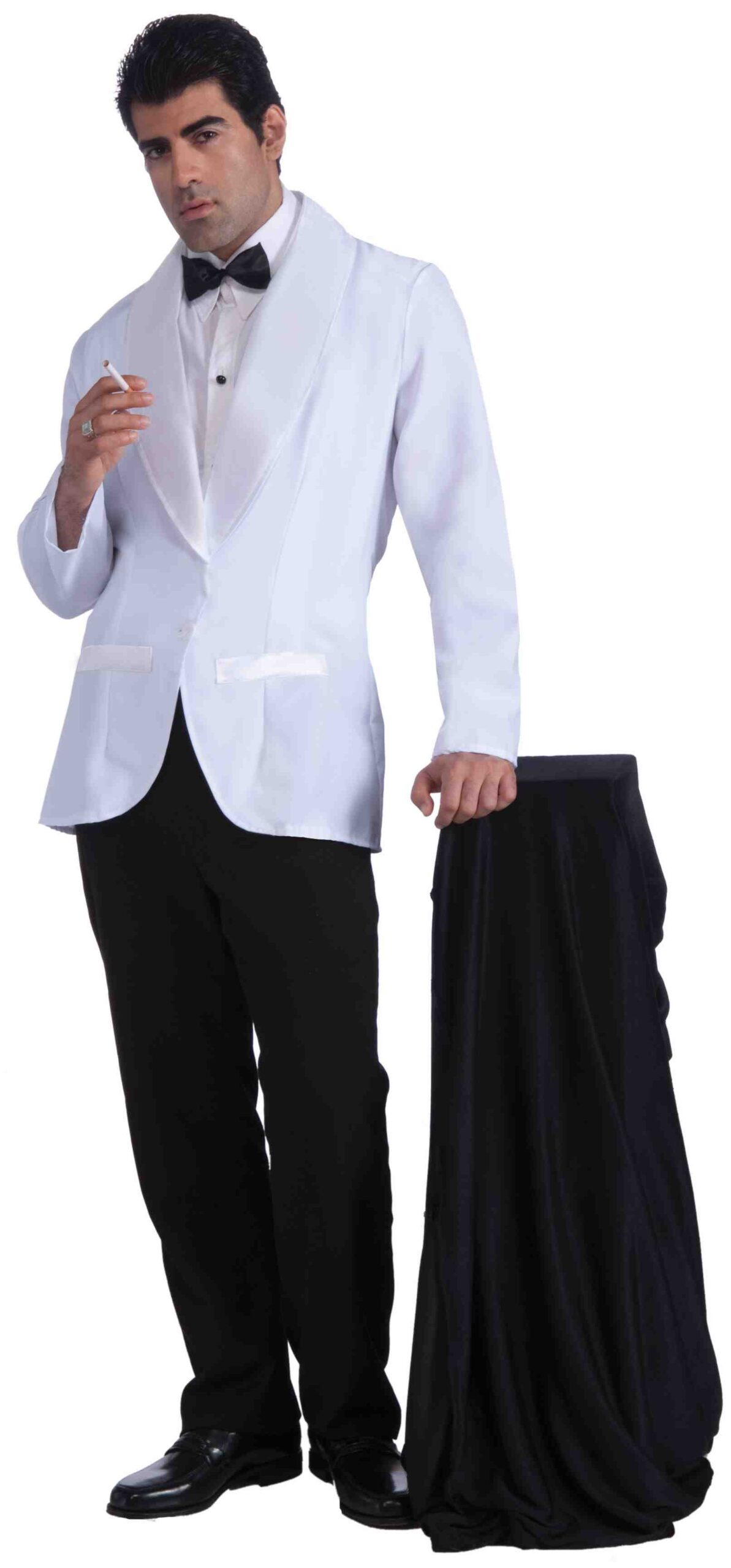 adult male in james bond tuxedo with cigarette