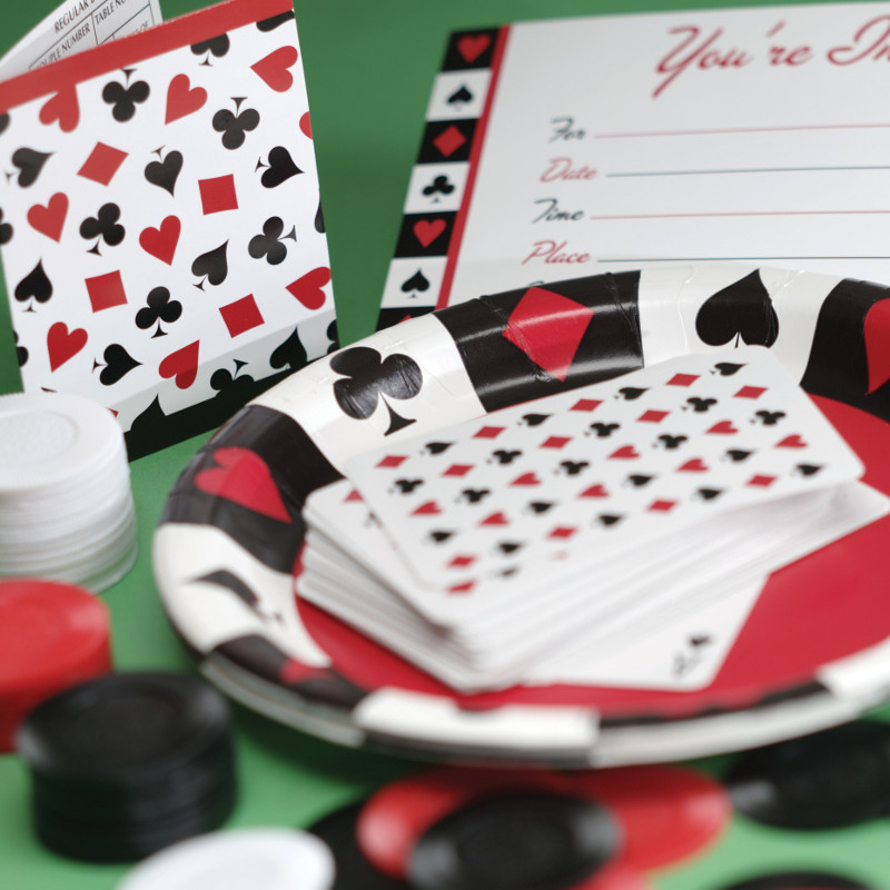 deck of cards decorations for casino party