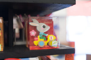 Djeco bunny puzzle on shelf