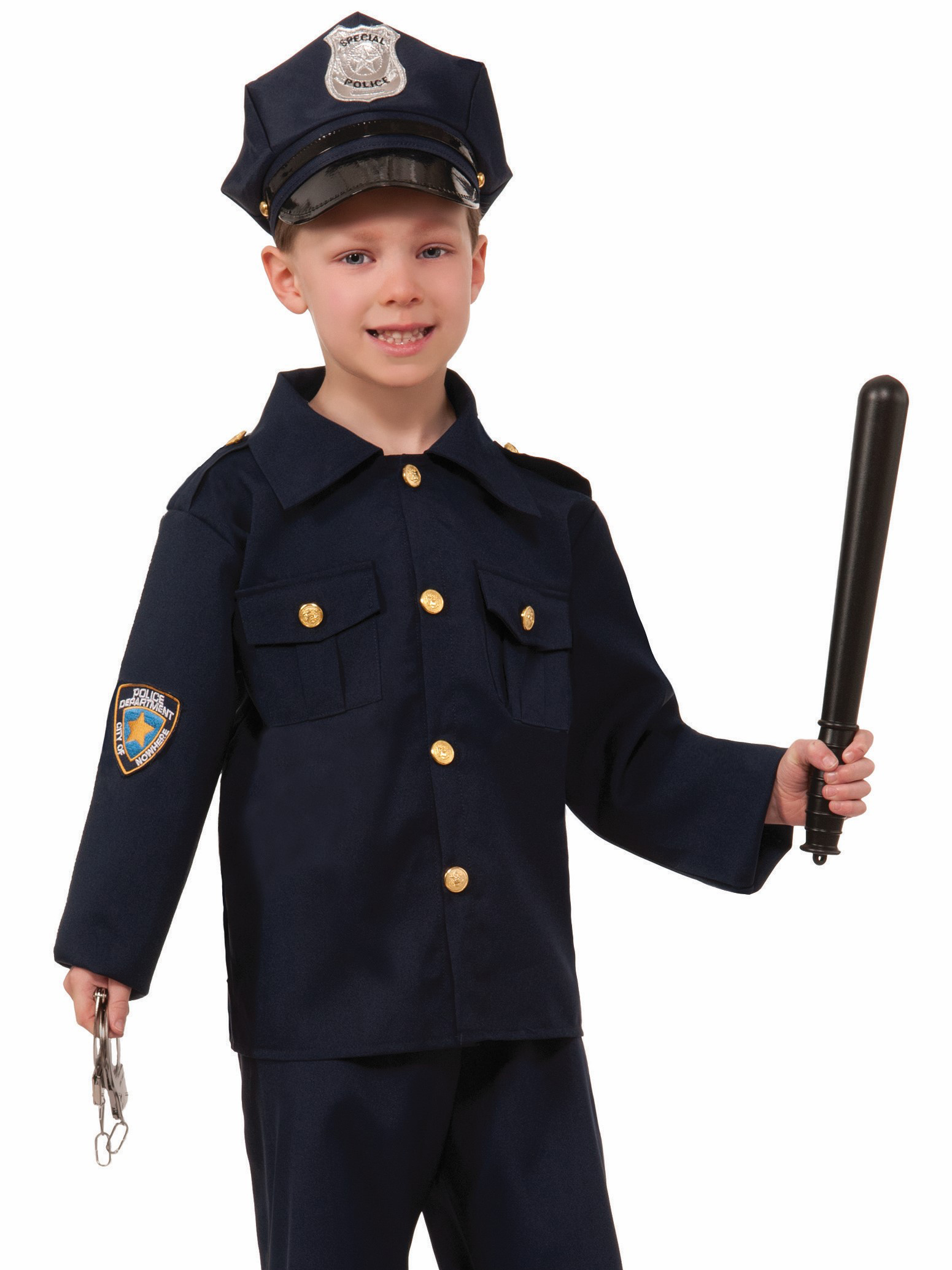 Little Boy in a police officer uniform