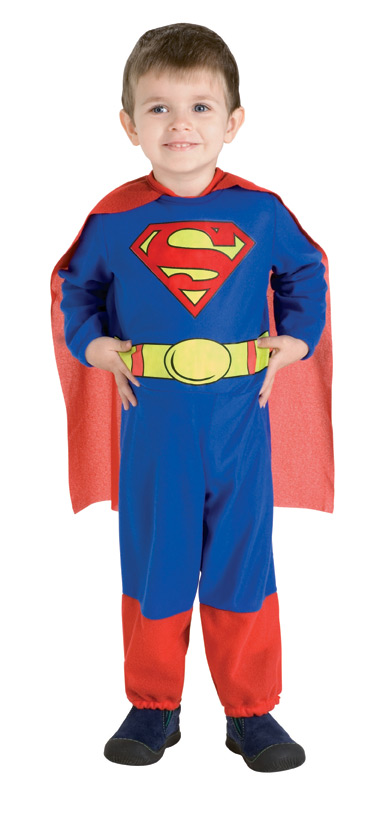 little boy in superman costume