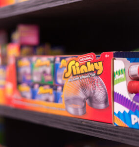 slinky toys on shelf