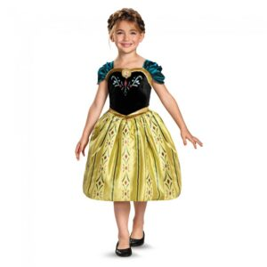 little girl in disney princess anna costume