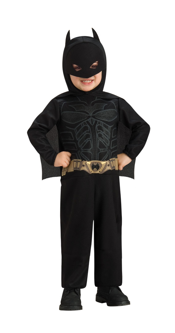 little guy in batman costume