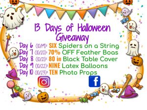 13 Days of Halloween GIVEAWAYS
